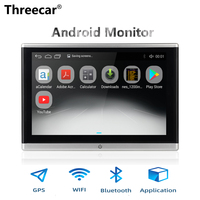 Android OS Car Headrest Monitor Video Player USB/SD/FM TFT LCD Digital Screen Touch Button Game Remote Control Car MP5 Player