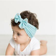 Peral Bow Baby Turban Headbands For Newborn Girls Handmade Nylon Elastic Hair Bands Headwear For Baby Girls Hair Accessories New sunlikeyou baby headband butterfly girls embroidery hair bands for girls kids headbands turban newborn baby hair accessories