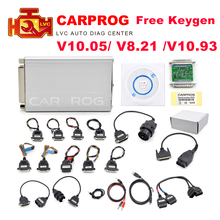 Carprog V10.05 V8.21 V10.93 Car Prog ECU Chip Tunning Car Repair Tool Carprog Programmer with All 21 Adapters Diagnostic Tool