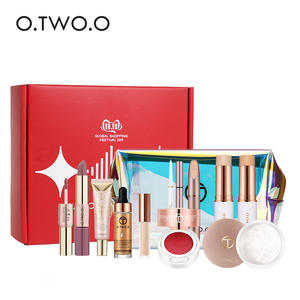 O.TWO.O 12pcs Makeup Set For Daily Use Include Highlighter Foundation Blusher Eyebrow Mascara Concealer Lipstick For Women Gift