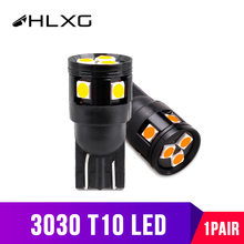 HLXG T10 W5W LED Wedge Parking Bulbs Car Dome Reading Lamps Non-polar Interior Light 1200LM 12V 24V White Amber bulbs for cars