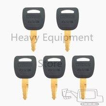 5 PCS Heavy Equipment Key For Lishide Excavator Loader