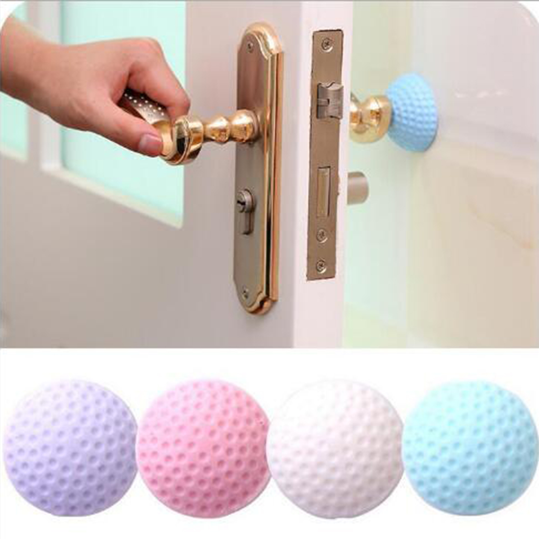 3 Pcs Door Handle Crash Pad Metope Rubber Anti Collision Wall Protector Self Adhesive Rubber Door Handle Bumper Guard Stopper