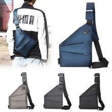 Dienqi masculino saco de peito casual para homens balck coldre anti roubo bolsa pacote de telefone bolso pessoal à prova dwaterproof água bolsa de viagem fino