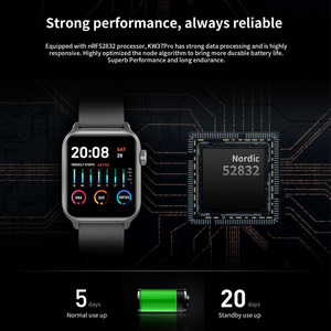 Image 4 - LYKRY KW37pro Bluetooth Smart Watch Temperature Heart Rate Monitor Full Touch Screen Smart watches for apple xiaomi VS IWO 8 9