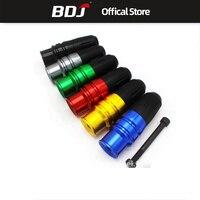 BDJ For Kawasaki Suzuki Honda Motorcycle Universal CNC Modified Exhaust Pipe Stick Rubber Ball Screw 10mm