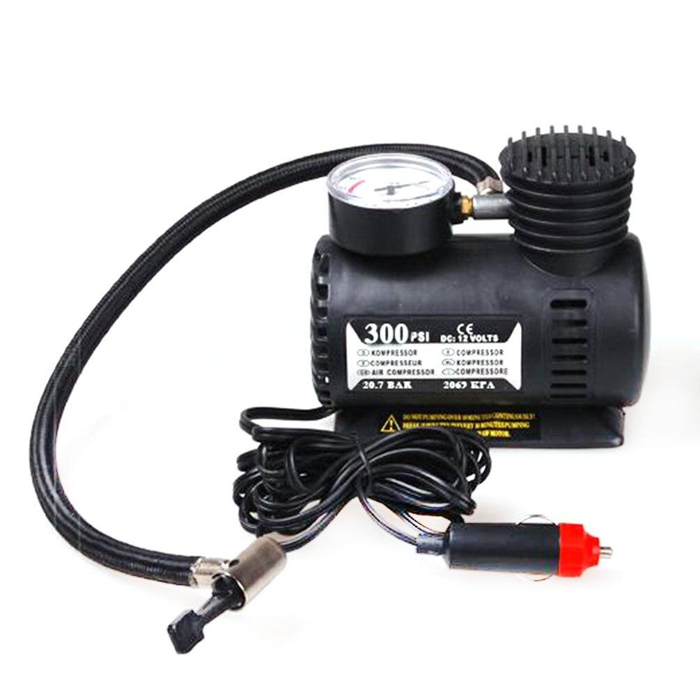 Portable Car Accessories Automotive Durable Vehicle Mini Air Compressor 300 PSI Tire Inflator Pump 12V Car Parts