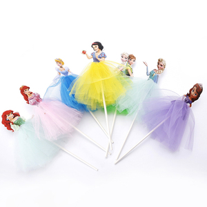 1pcs 21cm Princess Birthday Party Decorations Kids Cake Topper For Girls Birthday Decoration Anniversaire Cake Supplies