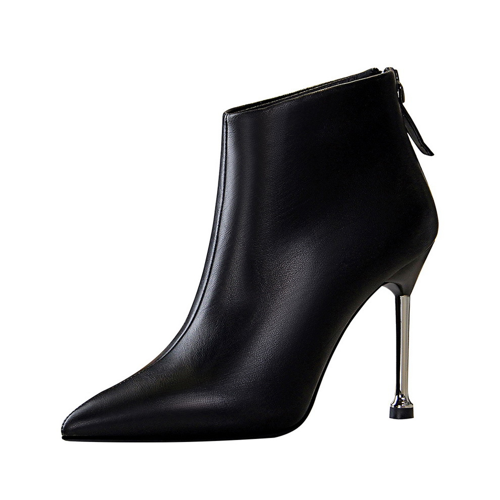 Top Genuine Leather Boots Women Shoes Platform High Heel Boots Bow Natural Real Leather Ankle Boots Sexy Female Footwear 40