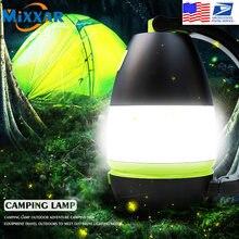 Zk20 dropshipping multi-função de acampamento luz tenda lâmpada led usb recarregável 3 in1 lanterna mesa lâmpada banco potência saída