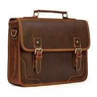 MAHEU Neue Designer Leder Laptop Aktentasche Aus Echtem Leder männer Computer Tasche Arbeits Handtaschen Tote Tasche für Mann Männlichen 14 zoll