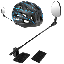 Bike Rearview Safe Riding Mirror TAGVO Bicycle Helmet Rear View Mirror 360 Degree Adjustable Rotatable Mountain Road MTB Cycling Bicycle Mirror