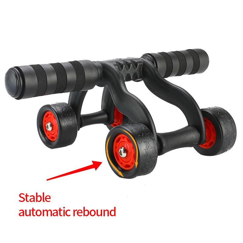 Fitness Abdominal Wheel AB Roller Fitness Exercise Gym Training Equipment Abdominal Muscle Trainer for Men Women with Mat image