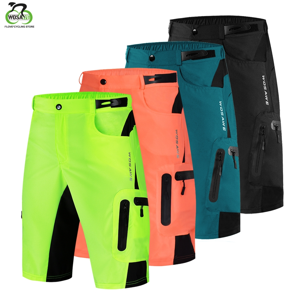 WOSAWE Men's MTB Shorts Outdoor Motocross Bike Short Pant Breathable Loose Fit For Running Bicycle Cycling  Shorts Ciclismo