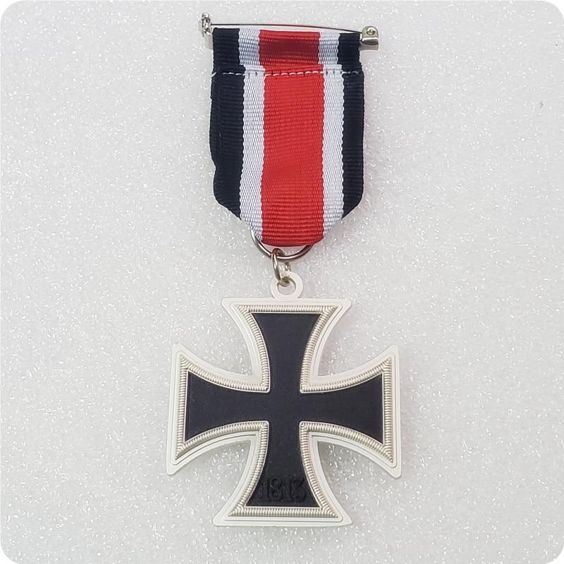 Германия 1813_1939 металлический крест медаль значок 2-й класс с копией ленты