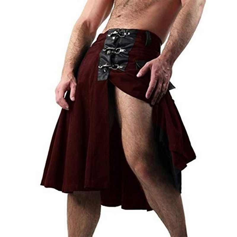 2020 الرجال الاسكتلندي الصلبة الكلاسيكية الرجعية التقليدية مثير في القرون الوسطى البضائع شخصية الاسكتلندية كيلوت تحقق نمط التنانير