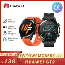 Huawei GT2 GT2E Smart Watch Global Version 46mm SmartWatch GPS Waterproof Bluetooth For Android iOS Heart Rate ساعة ذكية