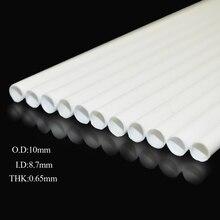 Teraysun 20pcs 10*10mm Round tube ABS Plastic pipe JYG-10 50cm length