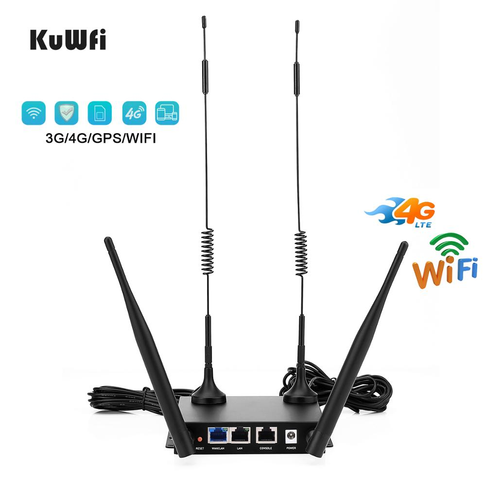 KuWfi Modem 4G LTE CPE Router 300Mbps Wireless CPE Routers Unlocked Wifi Router 4G Sim Card Slot Up To 32users