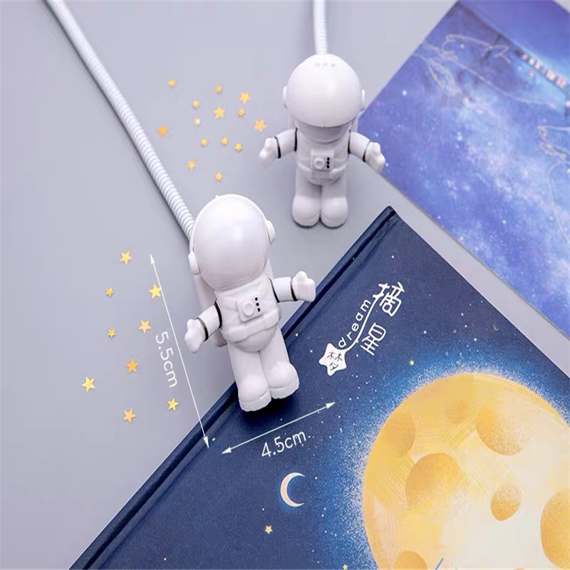 Spaceman Astronaut Night Light USB Tube DC 5V LED Portable Computer Desk Lamp Astronaut Laptop PC Notebook Reading Lighting