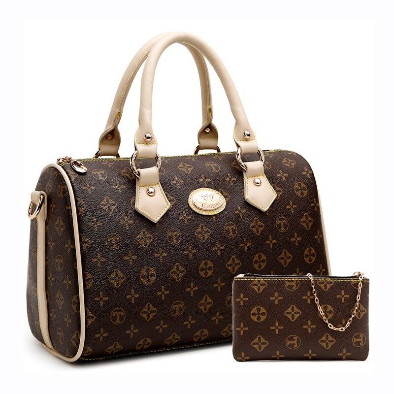 Handbags Bowling Casual Tote Flower-Printing Monogram Shoulder-Bag High-Quality Women