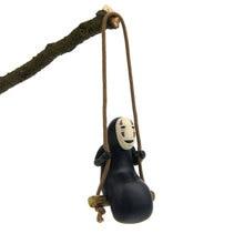 Spirited Away No Face Man Figures Toys Keychain MiyazakiHayao Swing Action Model Keyring Collection Decoration