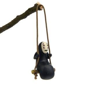 Spirited Away No Face Man Figures Toys Keychain MiyazakiHayao Swing No Face Man Action Model Keyring Collection Decoration