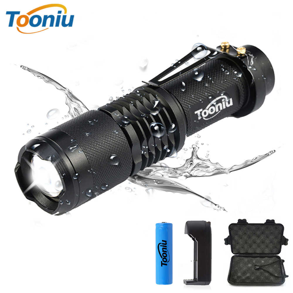 XML-L2 LED flashlight High Power Mini XML-T6 zoomable torch powered by 18650 lithium battery for Riding camping hunting