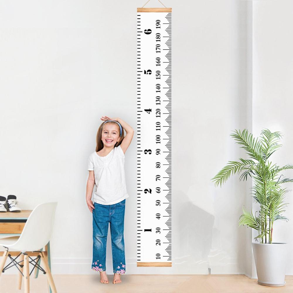 Baby Bed Room Props Wooden Baby INS Nordic Height Measure Ruler Child Kids For Bedroom Home Decoration For Baby Bed Bumper