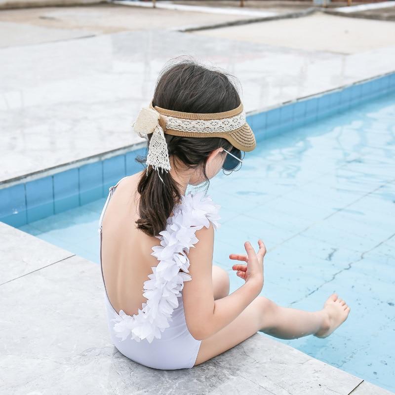 2019 New Style One-piece Swimsuit For Children Women's Cartoon Girls Hipster Flounced Hot Springs Flower CHILDREN'S Swimsuit