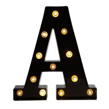 Alfabeto A-Z luces decorativas letras boda cumpleaños luces LED decoración de pared