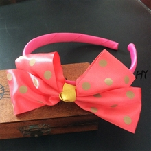 1 Pcs/lot High Quality Cute Hairbands Hair Bow For Kids Girls Childrens Boutique Ribbon Accessories