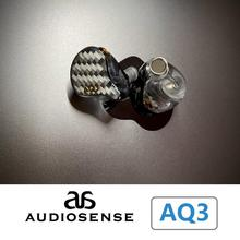 AUDIOSENSE AQ3 HiFi Stereo 2BA(Knowles)+1Dynamic Hybrid Earphone IEMs with Detachable MMCX Cable 3D printing Resin shell