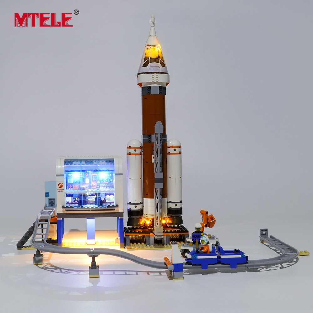 MTELE Brand LED Light Up Kit For City Series Deep Space Rocket And Launch Control Lighting Set Compatile With 60228