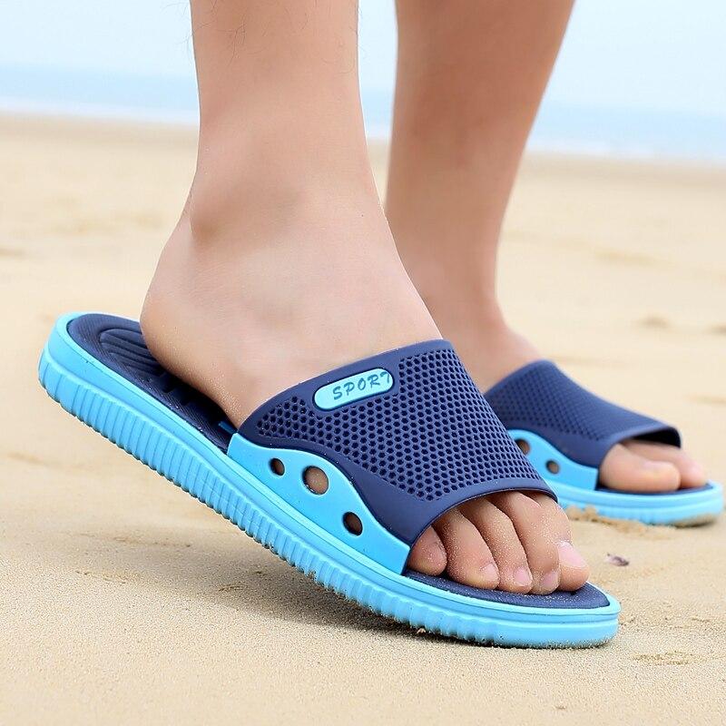 2019 Summer Slippers Men Casual Shoes Sandals Leisure Soft Slides Eva Massage Beach Slippers Water Shoes Mens Sandals Flip Flops