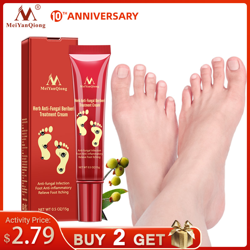 Herbal Effective Foot Treatment Anti Fungal Infection Onychomycosis Paronychia Toe Fungus Treatment Feet Repair Cream Foot Care