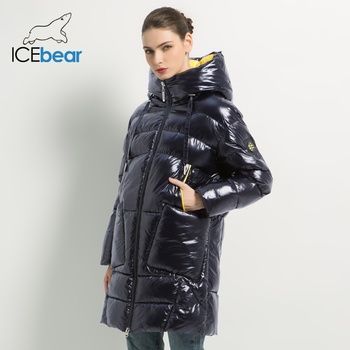 2019 New Winter Women's Coat Hooded Female Jacket with Zipper women's Clothing Thick Warm Coats Casual Ladies Parkas GWD19504I