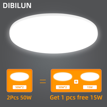 Ultra Thin LED Ceiling Lights 15/20/30/50W Modern Surface Mounted Led Panel Ceiling Lamp for Living Room Lighting Fixture yeelight smart led ceiling lamp indoor lighting modern led light fixture app remote control surface mounted for living room 50w