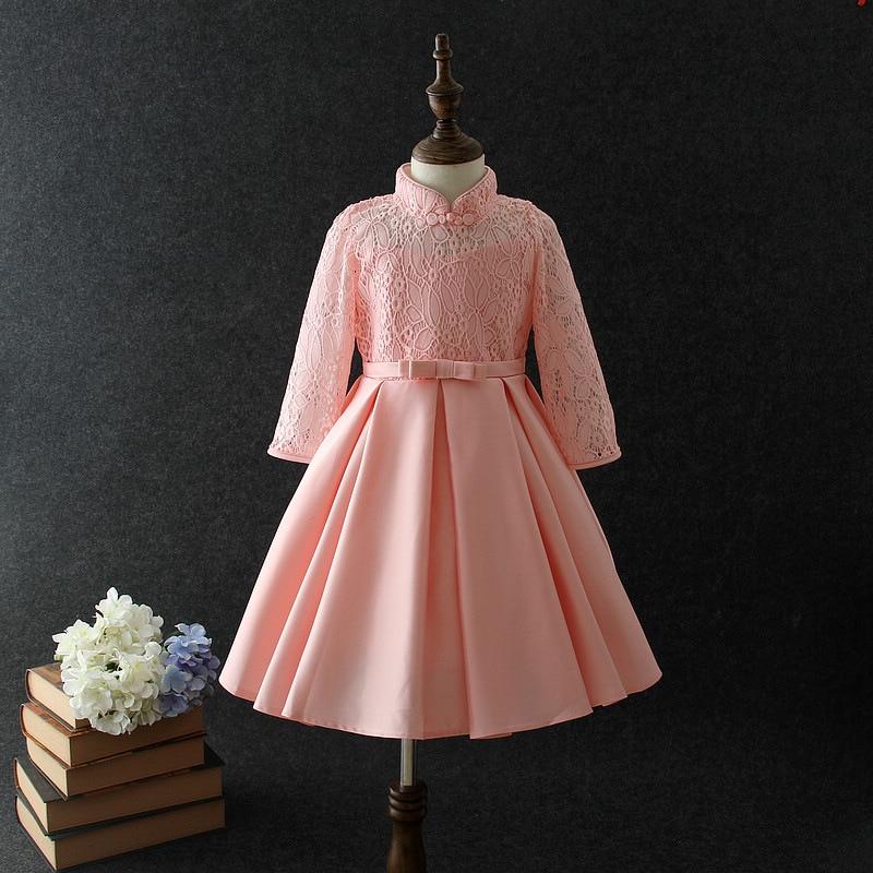 CHILDREN'S Dress Performance Wear Girls Cheongsam Princess Dress Tutu Dress Costume Stage Host Lace Autumn