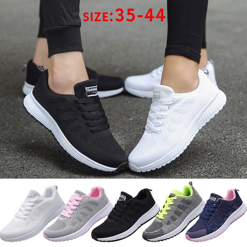 Damyuan Women's Sneakers And New Men's Sneakers Pneumatic Mesh Sneakers Black And White Non-slip Shoe Breathable Running Shoe 44