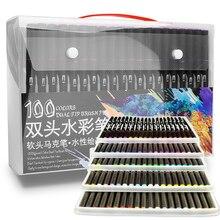 48/60/72/100 Цвета акварельный маркер для рисования набор двойной