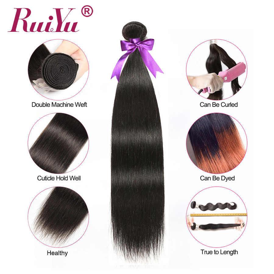 Paquetes de pelo lacio peruano 100% paquetes de cabello humano Remy extensiones de cabello humano de Color Natural 3 paquetes de ofertas RUIYU