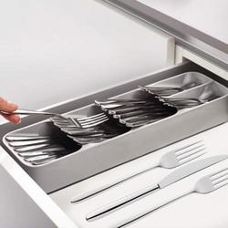 Новый кухонный ящик Органайзер лоток Ложка Столовые приборы разделительная шкатулка с отделкой столовые приборы, для кухни хранения