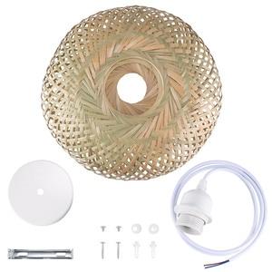 Image 5 - Китайская лампа из ротанга ручной работы, Бамбуковая люстра в стиле ретро для сада, ресторана, спальни, кафе, бара, гостиной