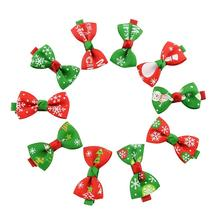 20pcs Christmas Cute Bow Tie Hairclip Simple Style Princess Hair Clip Hairpin Baby Decorations