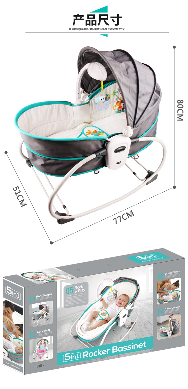 H8c3e3dbae70642c98ec992a6fa1bb408M Baby Furniture Cradle 5 in 1 baby rocking bed Baby Cradle rocking chair baby recliner portable baby basket baby crib babynest