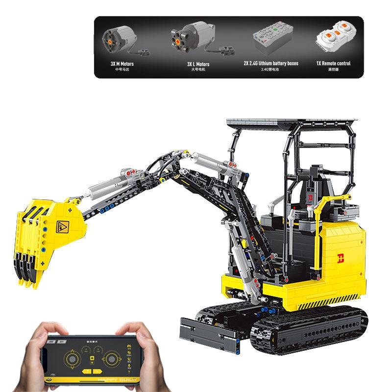 Yeshin 22006 APP RC Control Excavator Building Block
