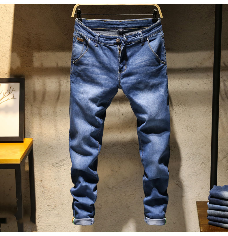 KSTUN Jeans Men Skinny Stretch Mens Colourd Jeans Fashion Slim Fit  Jeans Casual Pants Trousers