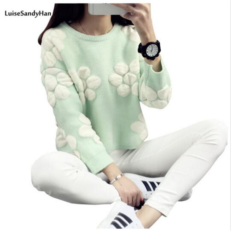 2019 Hot Sale Women Long Sleeve Pullover Hollow Knitwear O-leher Jacquard Sweater