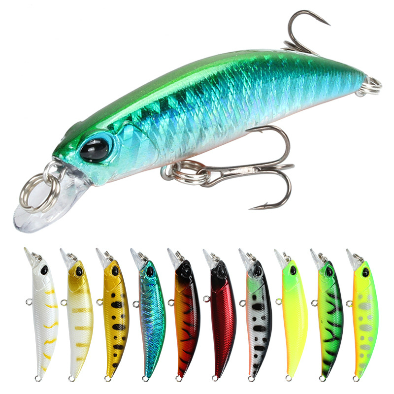 Fishing Lure 65mm 4g 3D Eyes Crankbait Wobbler Artificial Plastic Hard Bait Fishing Tackle Fingerlings  Rapala